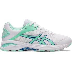 Asics Gel Netburner Professional 2 GS - Kids Netball Shoes - White/Fresh Ice