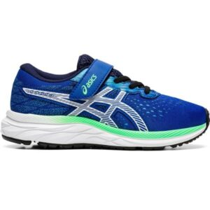 Asics Pre Excite 7 PS - Kids Running Shoes - Asics Blue/White