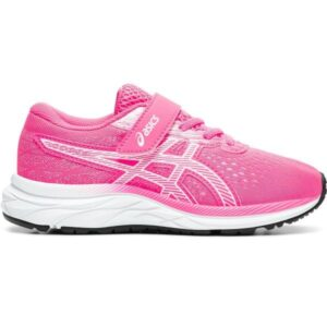 Asics Pre Excite 7 PS - Kids Girls Running Shoes - Hot Pink/White