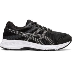 Asics Contend 6 GS - Kids Running Shoes - Black/White