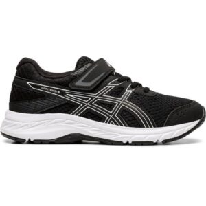 Asics Contend 6 PS - Kids Running Shoes - Black/White