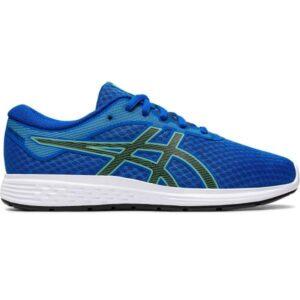 Asics Patriot 11 GS - Kids Running Shoes - Tuna Blue/Black/Green