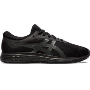 Asics Patriot 11 GS - Kids Running Shoes - Black/Graphite Grey