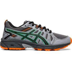 Asics Gel Venture 7 GS - Kids Trail Running Shoes - Carrier Grey/Cilantro/Orange