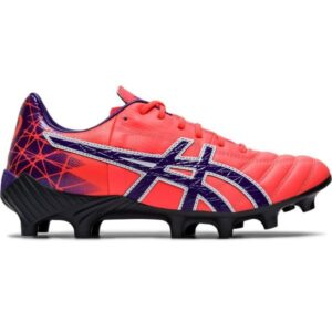 Asics Lethal Tigreor IT FF - Womens Football Boots - Flash Coral/Gentry Purple