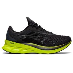 Asics NovaBlast - Mens Running Shoes - Black/Lime Zest