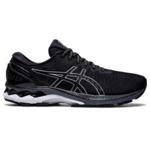 Asics Gel Kayano 27 - Mens Running Shoes - Black/Pure Silver