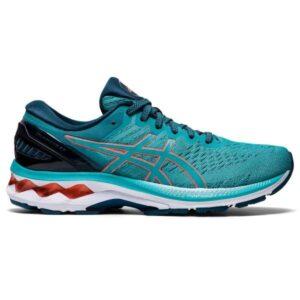 Asics Gel Kayano 27 - Womens Running Shoes - Techno Cyan/Sunrise Red