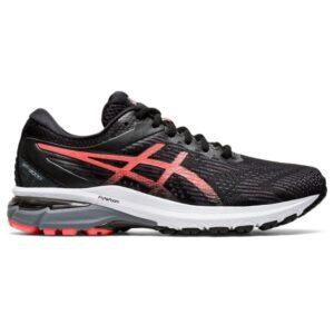 Asics GT-2000 8 - Womens Running Shoes - Black/Sunrise Red