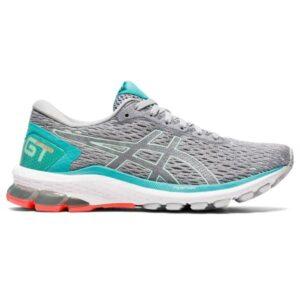 Asics GT-1000 9 - Womens Running Shoes - Piedmont Grey/Bio Mint