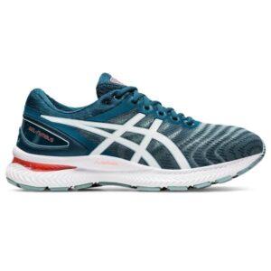 Asics Gel Nimbus 22 - Mens Running Shoes - Light Steel/Magnetic Blue