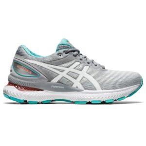 Asics Gel Nimbus 22 - Womens Running Shoes - Sheet Rock/White