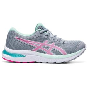 Asics Gel Cumulus 22 GS - Kids Running Shoes - Piedmont Grey/Pink Glo