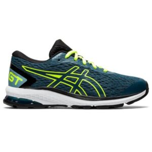 Asics GT-1000 9 GS - Kids Running Shoes - Magnetic Blue/Safety Yellow