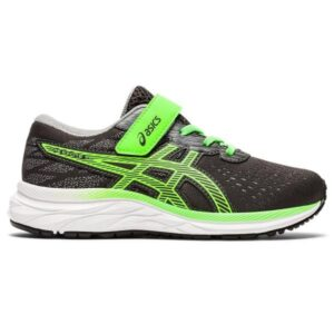 Asics Pre Excite 7 PS - Kids Running Shoes - Graphite Grey/Green Gecko