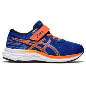 Asics Pre Excite 7 PS - Kids Running Shoes - Asics Blue/Shocking Orange