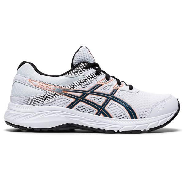 Asics Contend 6 GS - Kids Running Shoes - White/Mako Blue