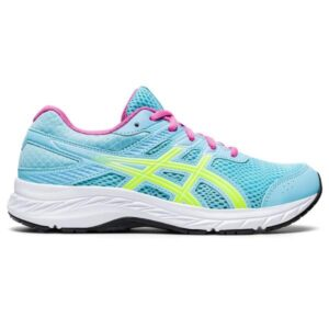 Asics Contend 6 GS - Kids Running Shoes - Ocean Decay/Safety Yellow