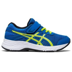 Asics Contend 6 PS - Kids Running Shoes - Directoire Blue/Lime Zest