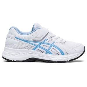 Asics Contend 6 PS - Kids Running Shoes - White/Blue Bliss