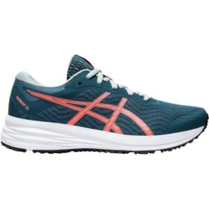 Asics Patriot 12 GS - Kids Running Shoes - Magnetic Blue/Sunrise Red