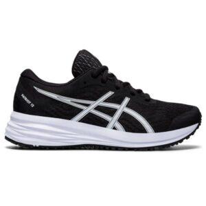 Asics Patriot 12 GS - Kids Running Shoes - Black/White
