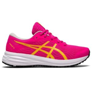 Asics Patriot 12 GS - Kids Running Shoes - Pink Glo/White