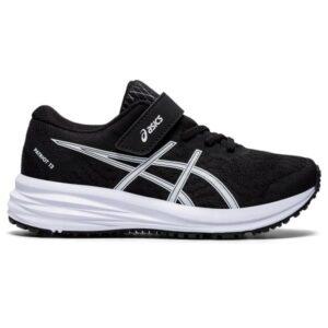 Asics Patriot 12 PS - Kids Running Shoes - Black/White