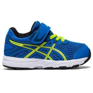 Asics Contend 6 TS - Toddler Running Shoes - Blue/Lime Zest