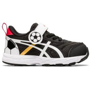 Asics Contend 6 TS Soccer - Toddler Running Shoes - Black/Pure Gold/White