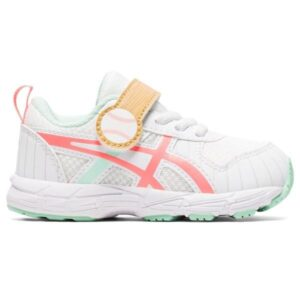 Asics Contend 6 TS Baseball - Toddler Running Shoes - White/Sun Coral