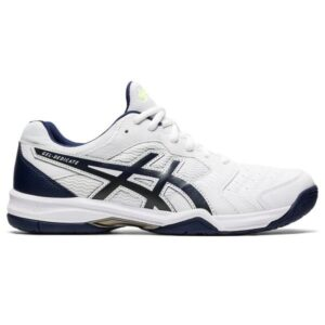Asics Gel Dedicate 6 Hardcourt - Mens Tennis Shoes - White/Peacoat