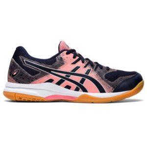 Asics Gel Rocket 9 - Womens Indoor Court Shoes - Guava/Midnight