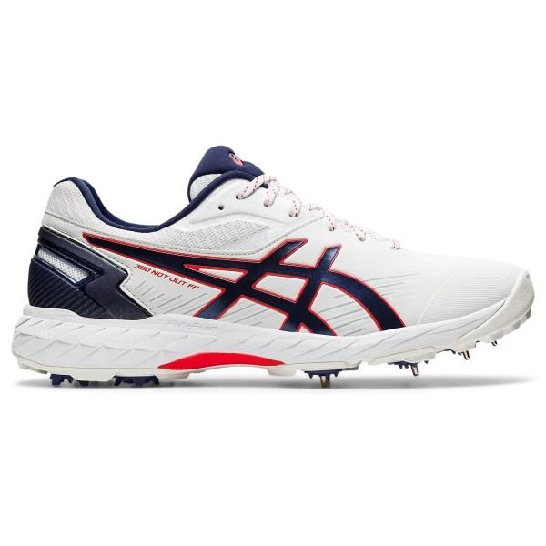 Asics 350 Not Out FF - Mens Cricket Shoes - White/Peacoat