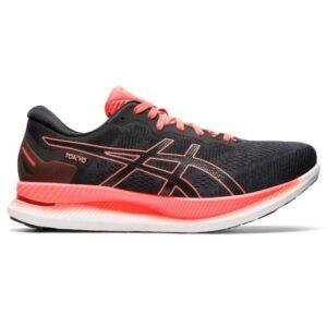 Asics GlideRide Tokyo - Mens Running Shoes - Black/Sunrise Red