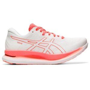 Asics GlideRide Tokyo - Womens Running Shoes - White/Sunrise Red