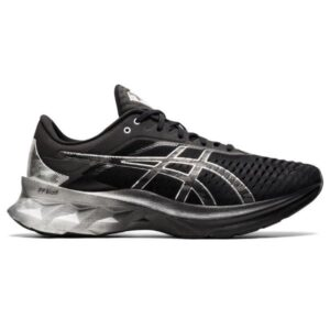 Asics NovaBlast Platinum - Mens Running Shoes - Black/Pure Silver