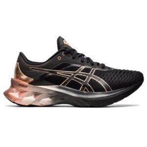 Asics NovaBlast Platinum - Womens Running Shoes - Black/Rose Gold