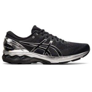 Asics Gel Kayano 27 Platinum - Mens Running Shoes - Black/Pure Silver
