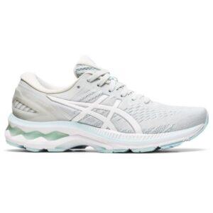 Asics Gel Kayano 27 - Womens Running Shoes - Glacier Grey/White