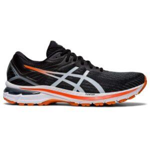 Asics GT-2000 9 - Mens Running Shoes - Black/White/Orange