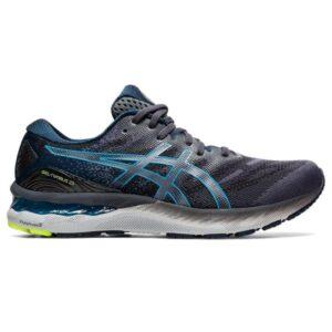 Asics Gel Nimbus 23 - Mens Running Shoes - Carrier Grey/Digital Aqua