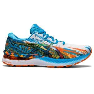 Asics Gel Nimbus 23 Noosa - Mens Running Shoes - Digital Aqua/Marigold Orange