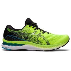 Asics Gel Nimbus 23 - Mens Running Shoes - Hazard Green/Black