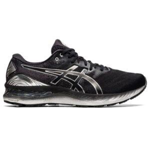 Asics Gel Nimbus 23 Platinum - Mens Running Shoes - Black/Pure Silver