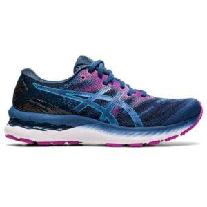 Asics Gel Nimbus 23 - Womens Running Shoes - Grand Shark/Digital Aqua