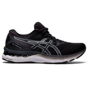 Asics Gel Nimbus 23 - Womens Running Shoes - Black/White
