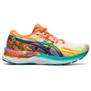Asics Gel Nimbus 23 Noosa - Womens Running Shoes - Hot Pink/Sour Yuzu
