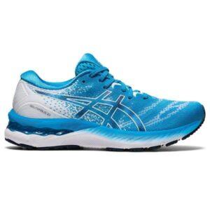 Asics Gel Nimbus 23 - Womens Running Shoes - Digital Aqua/White