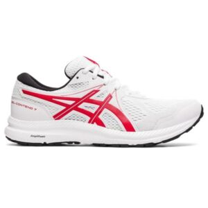 Asics Gel Contend 7 - Mens Running Shoes - White/Classic Red